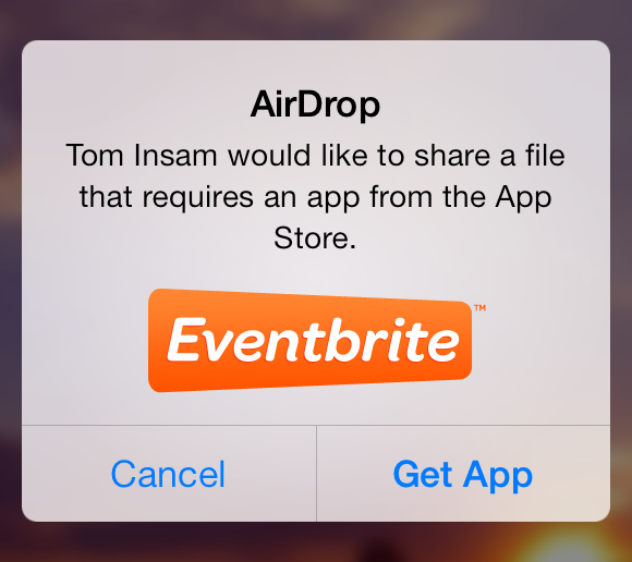 Setting the title of AirDrop shares under iOS 7