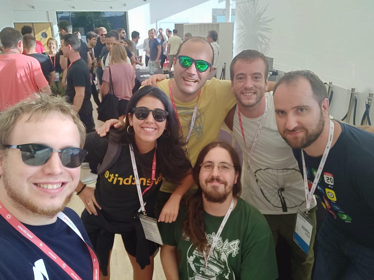 Eventbrite's Team at React Alicante