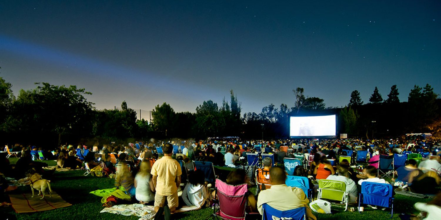 Image result for outdoor movie screening