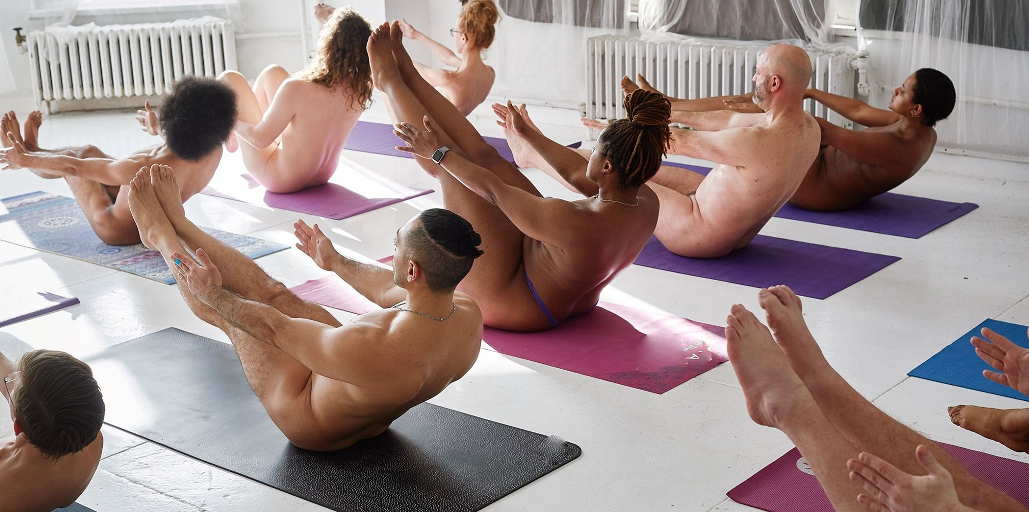 nude yoga groups classes