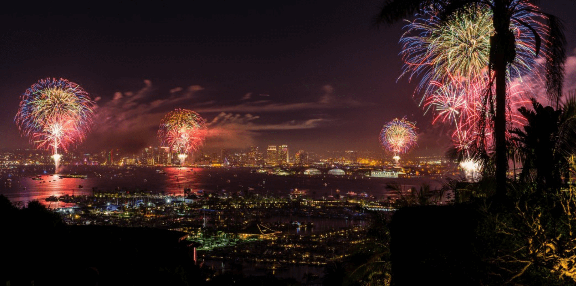 Where to Watch Fireworks on New Year's Eve in Los Angeles