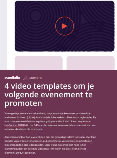 video evenement promoten