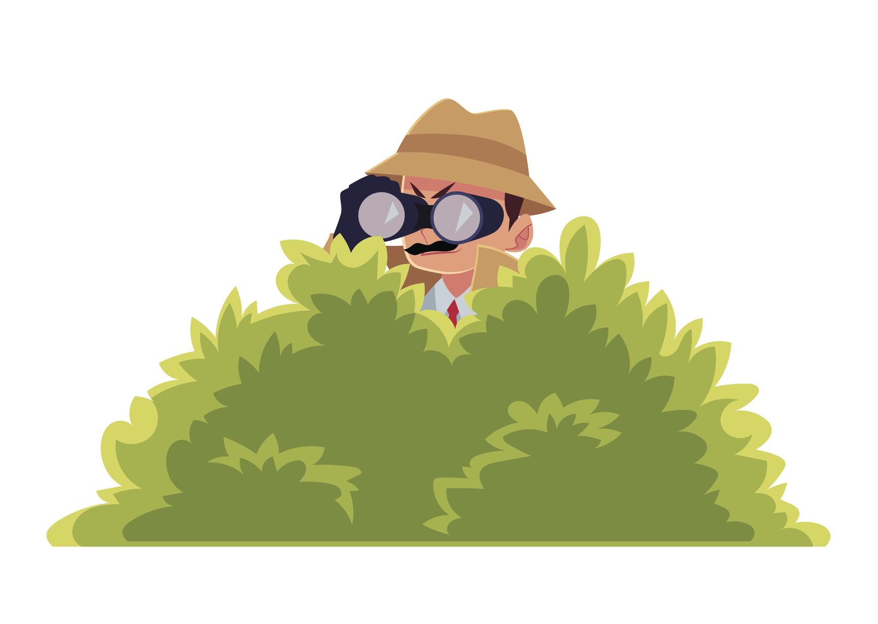 Человек в кустах картинка