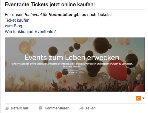 Formatierungen in Event Posts auf Facebook