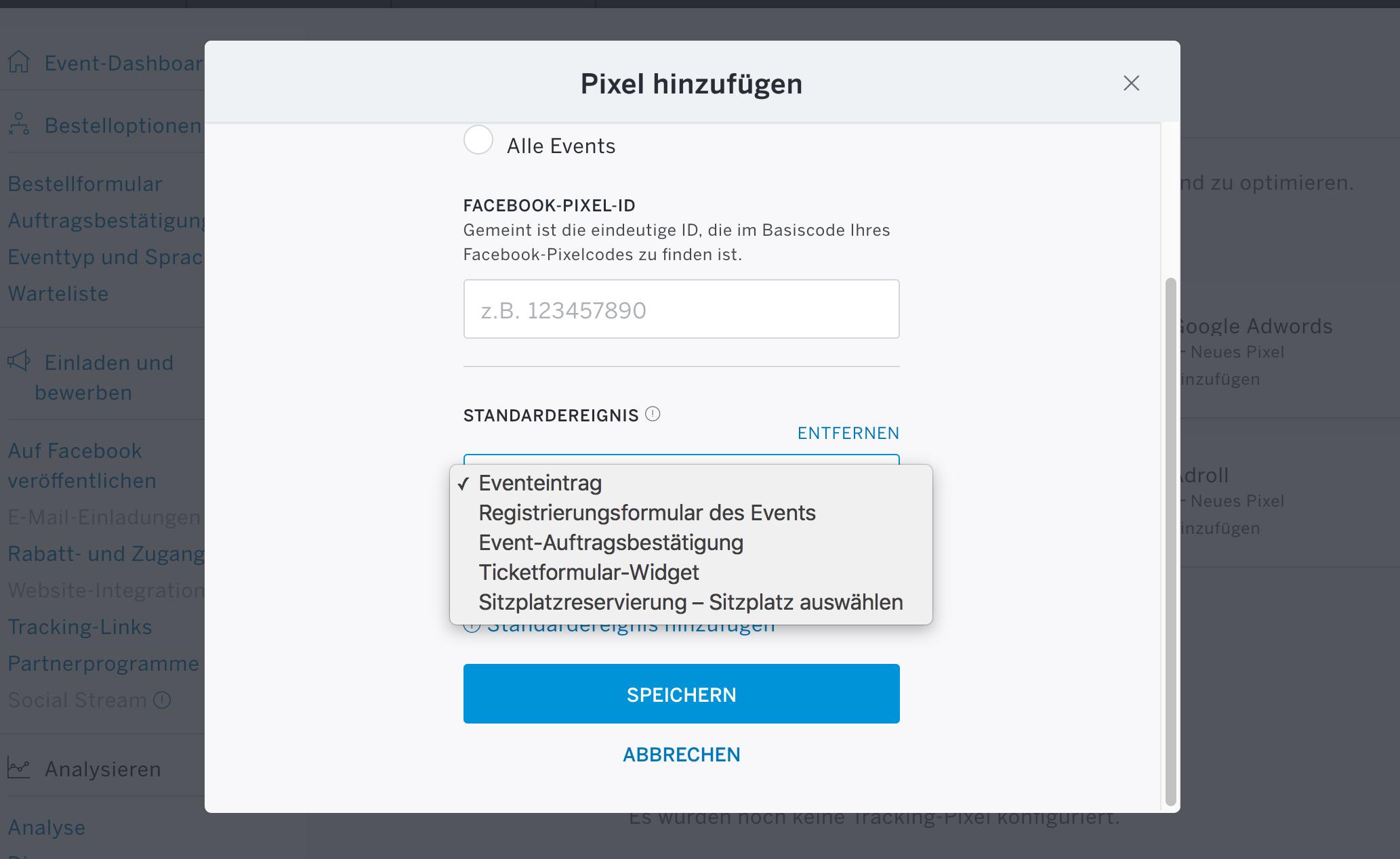 Facebook Pixel Eventbrite