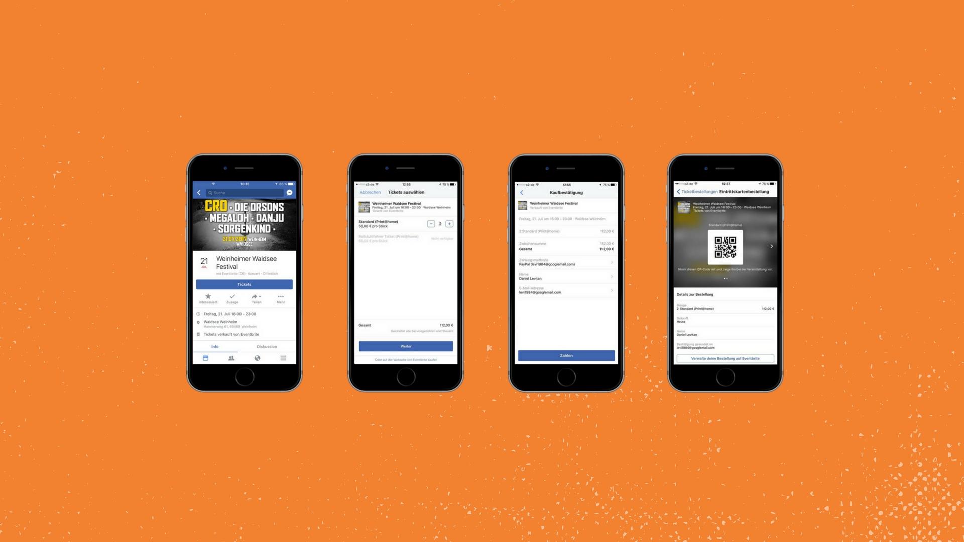 tickets direkt in facebook kaufen