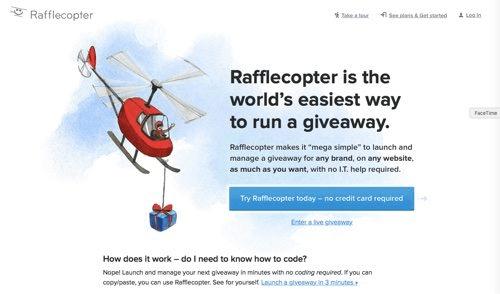 Social Media Tools wie Rafflecopter