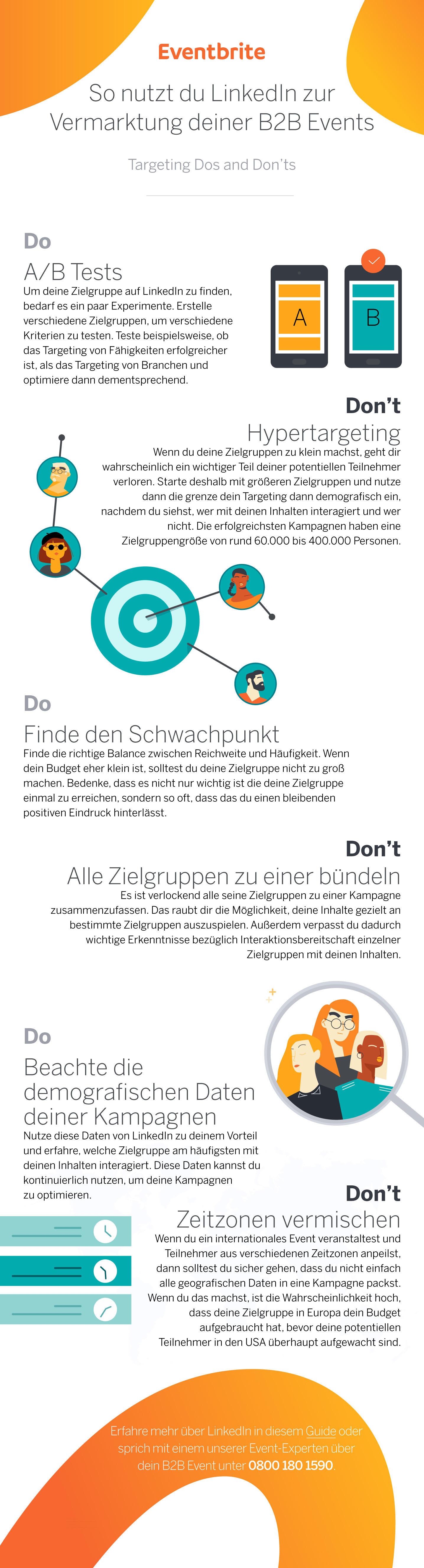 LinkedIn Targeting für B2B Events Eventbrite DE