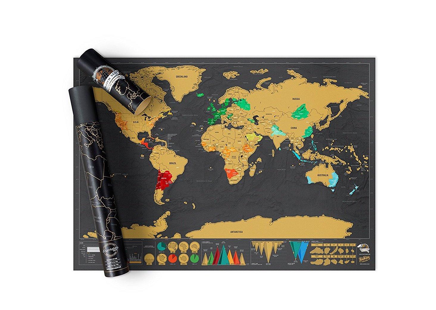 Eventmanager Geschenkideen: Rubbel Weltkarte