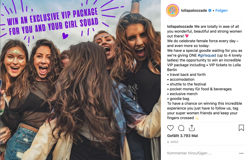 instagram contest ideen events lollapalooza