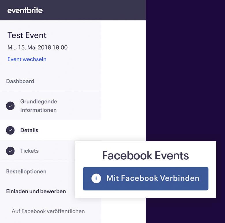 Facebook Ticketshop Schritt 2 - Verbinde dein Event