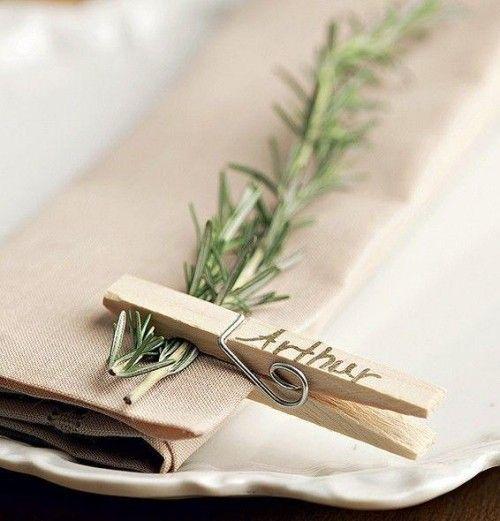 Hochzeit planen und organisieren Platzkärtchen