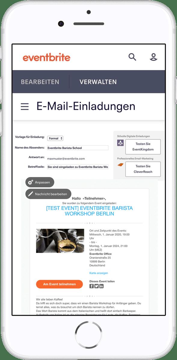 Einladungmanagement-Tool von Eventbrite - Online Einladungen einfach versenden