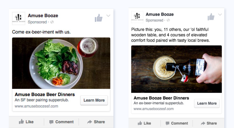 How to write Facebook ads for events