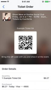 Ticket on facebook