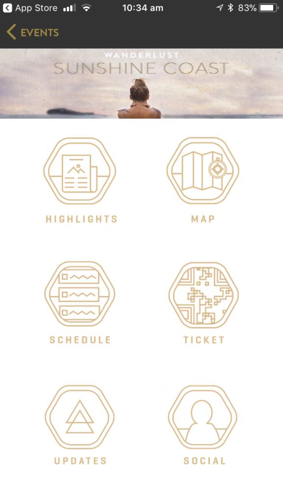 Wanderlust event app - Eventbrite