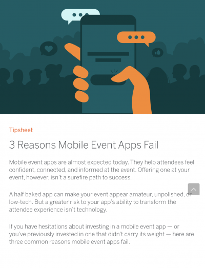 mobile event apps fail