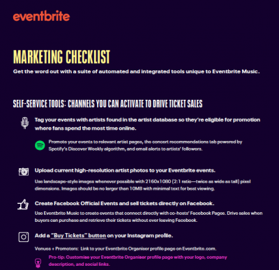 Checklist: The Must-Have Tech for Music Event Marketing - Eventbrite