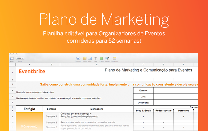 plano de marketing para eventos  modelo edit u00e1vel com 52