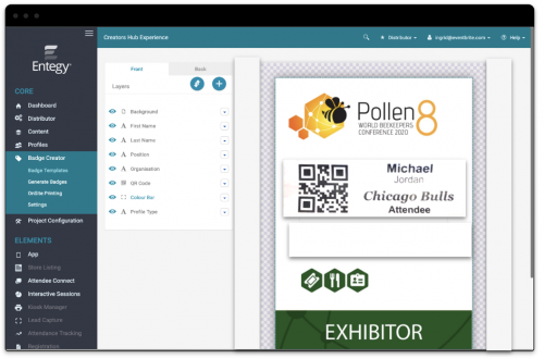 Badge Creator - aplicativo para eventos