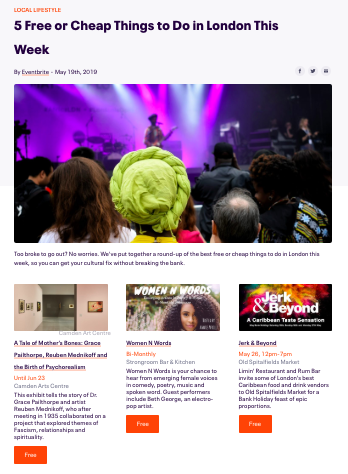 Eventbrite Consumer Blog 2