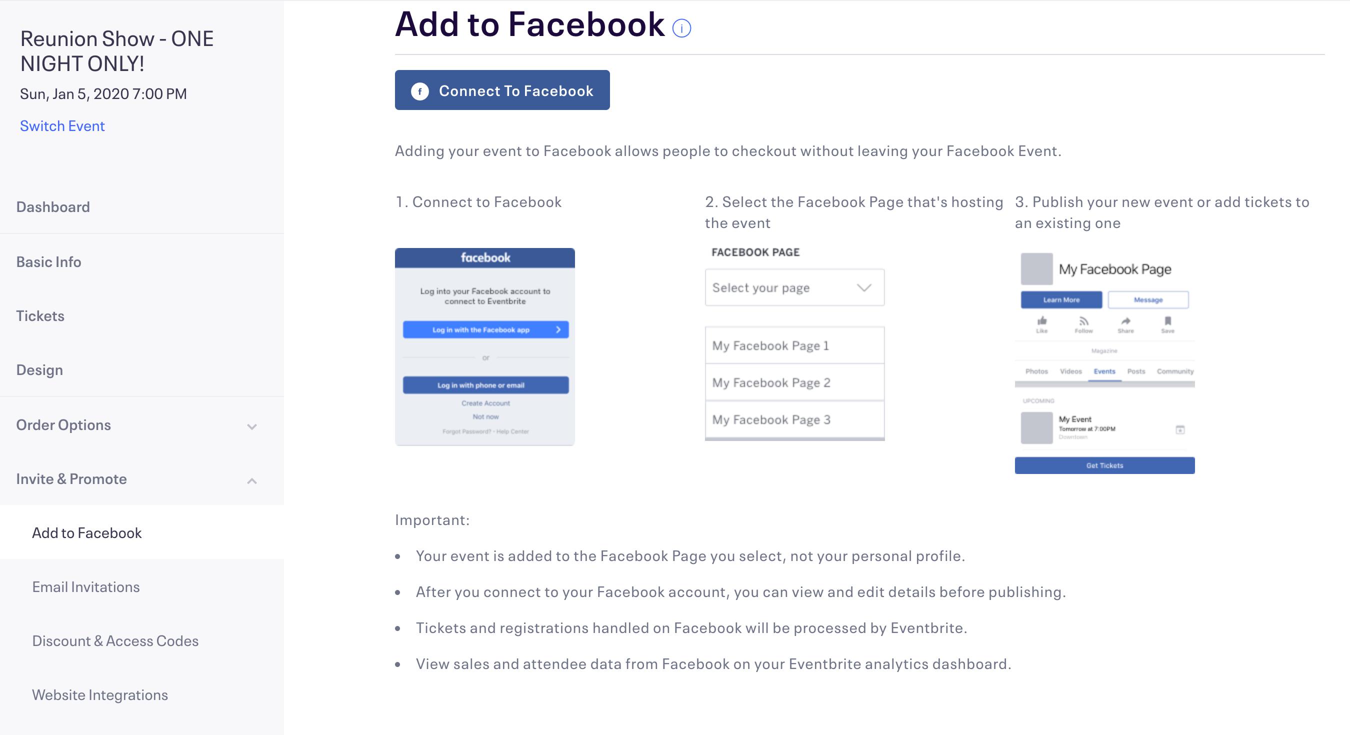 Eventbrite Facebook Integration