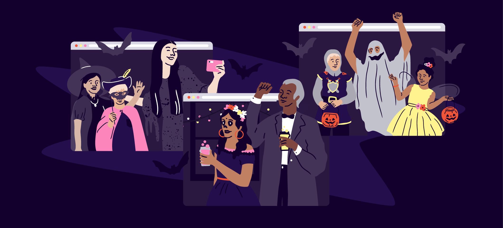 virtual halloween event
