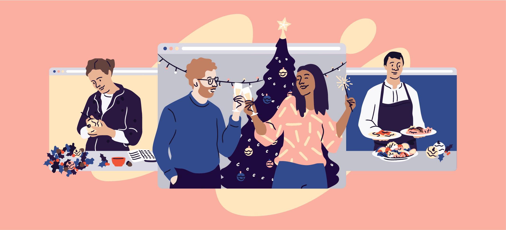 festive virtual events