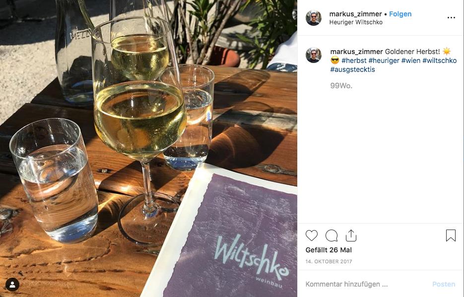 Schanigarten Wien Weinbau Wiltschko