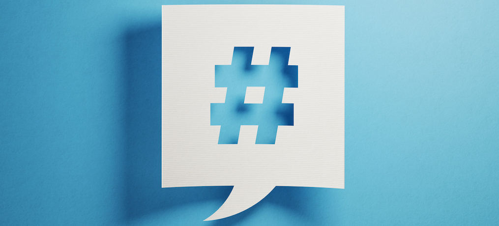 how to use hashtags before during and after your event