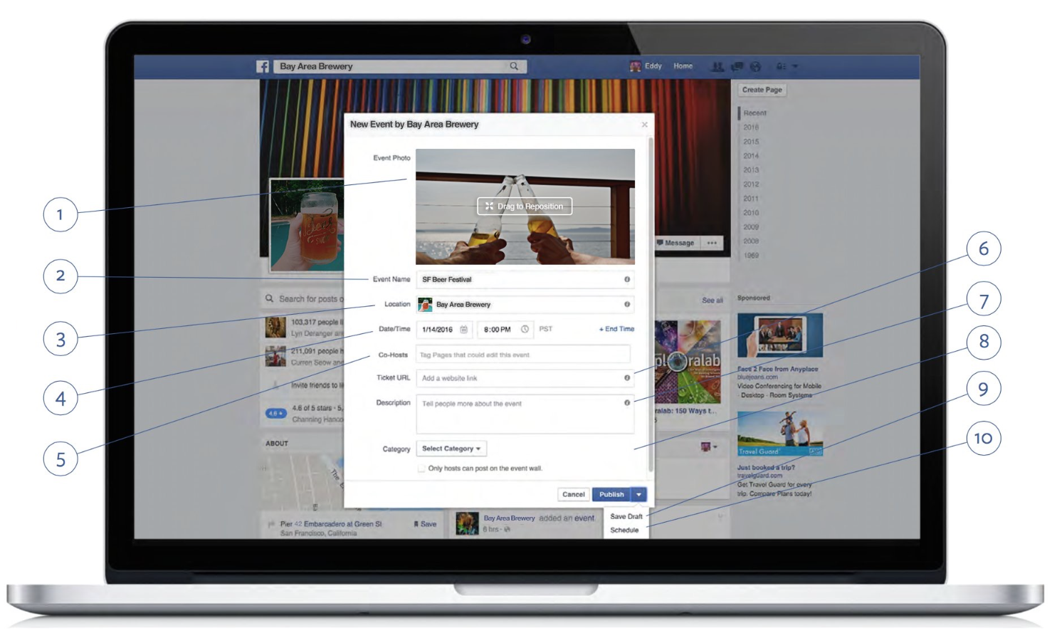 how to delete an event on facebook