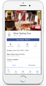 Facebook Official event mobile Eventbrite