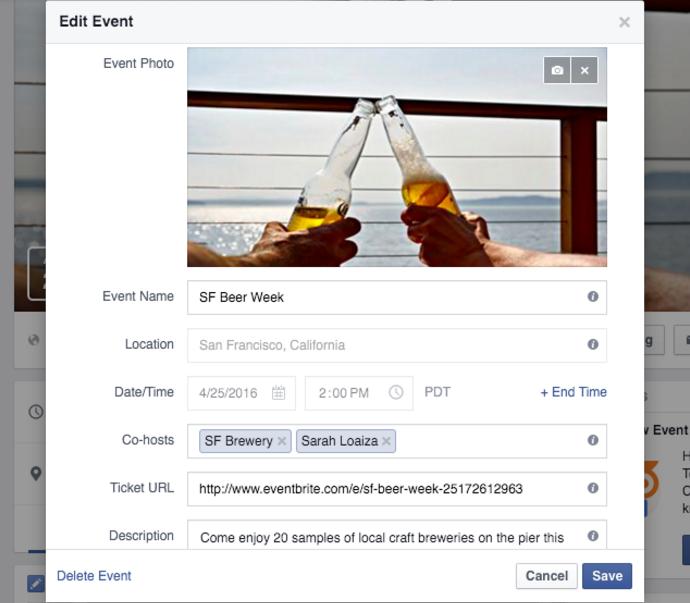 edit Facebook Official Event Eventbrite