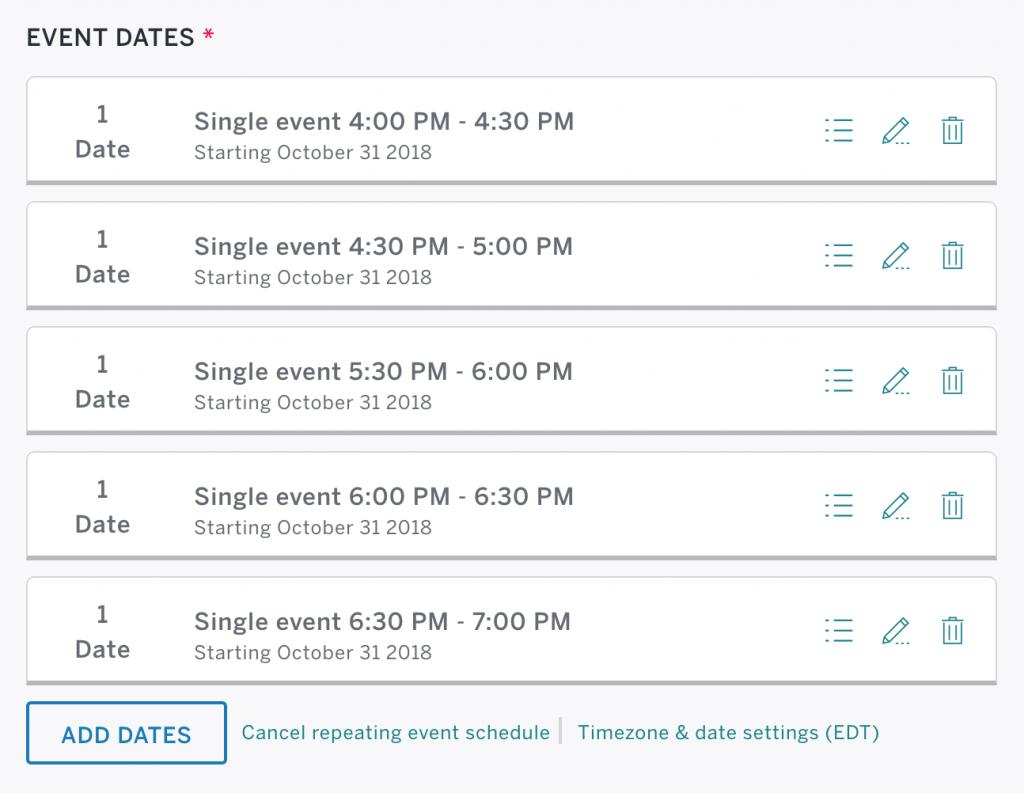 event time blocks