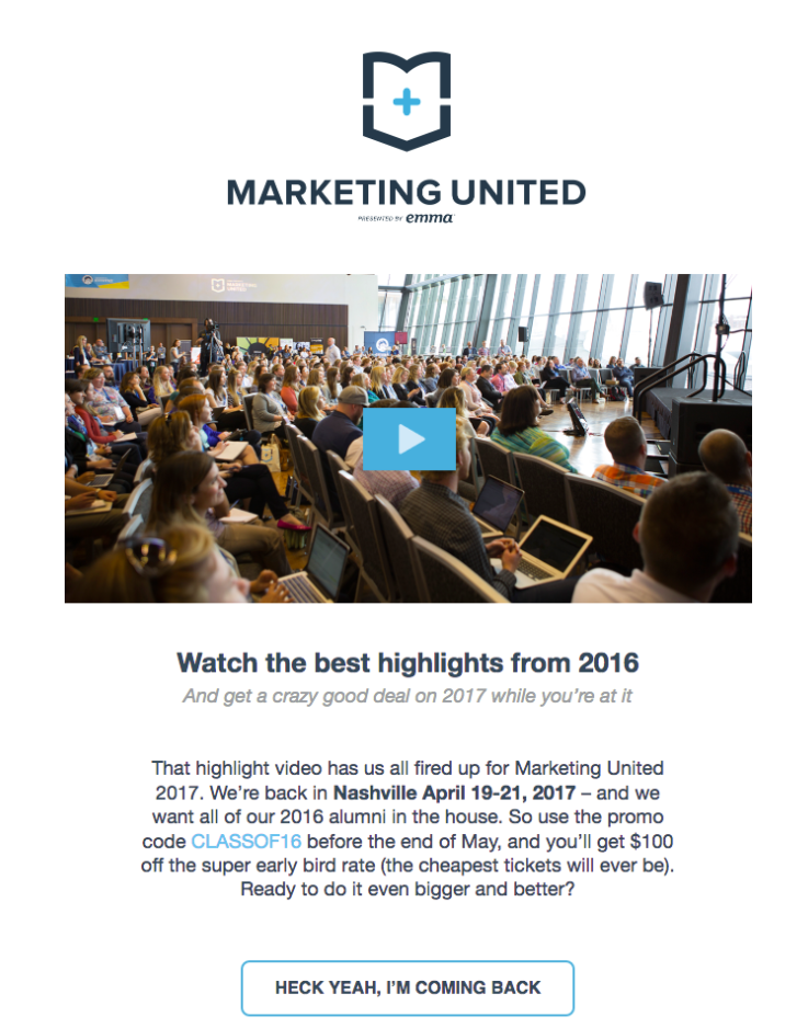 marketing united email example