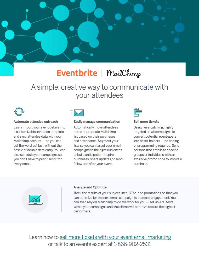 mailchimp email event integration