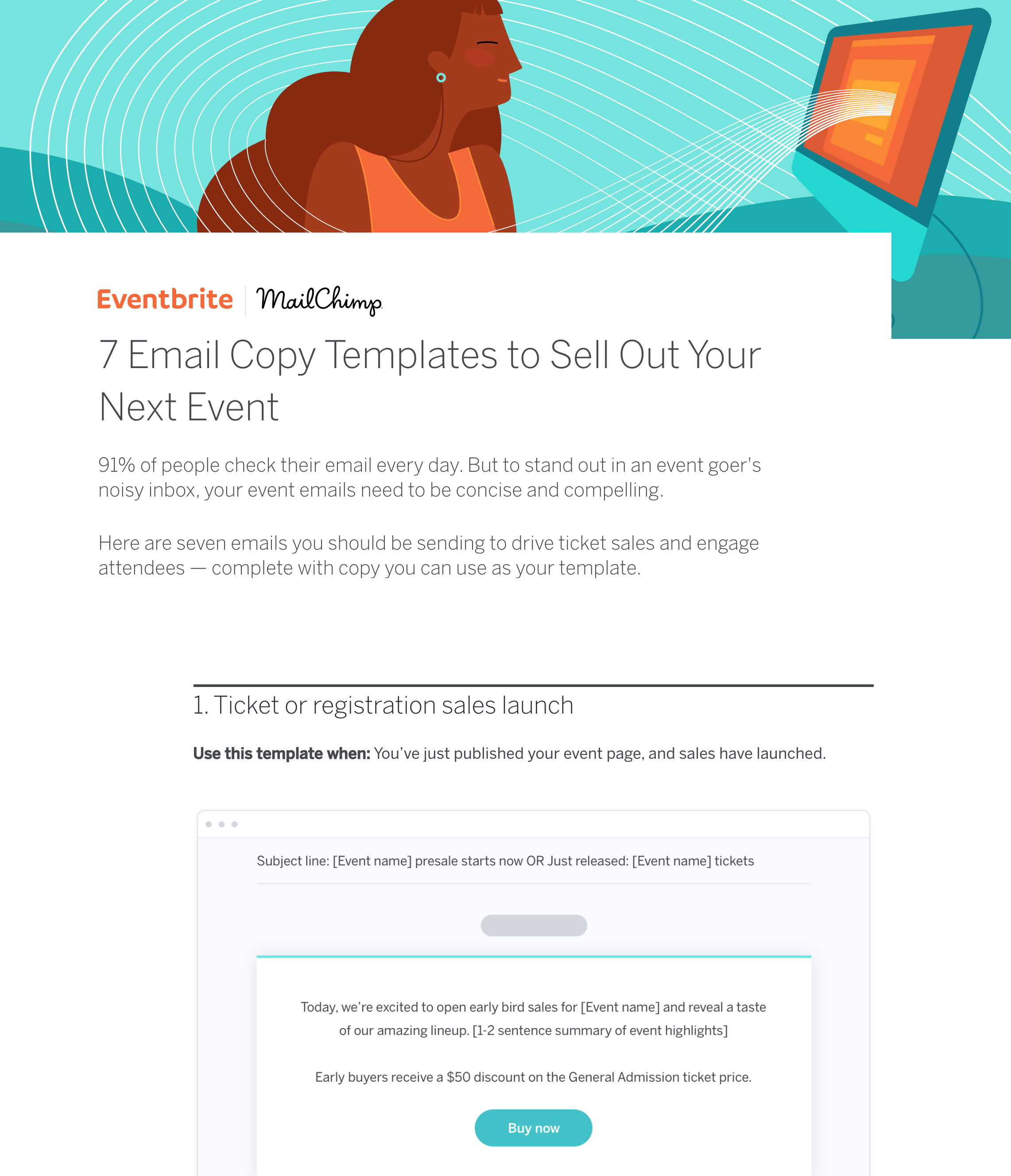event email templates with copy