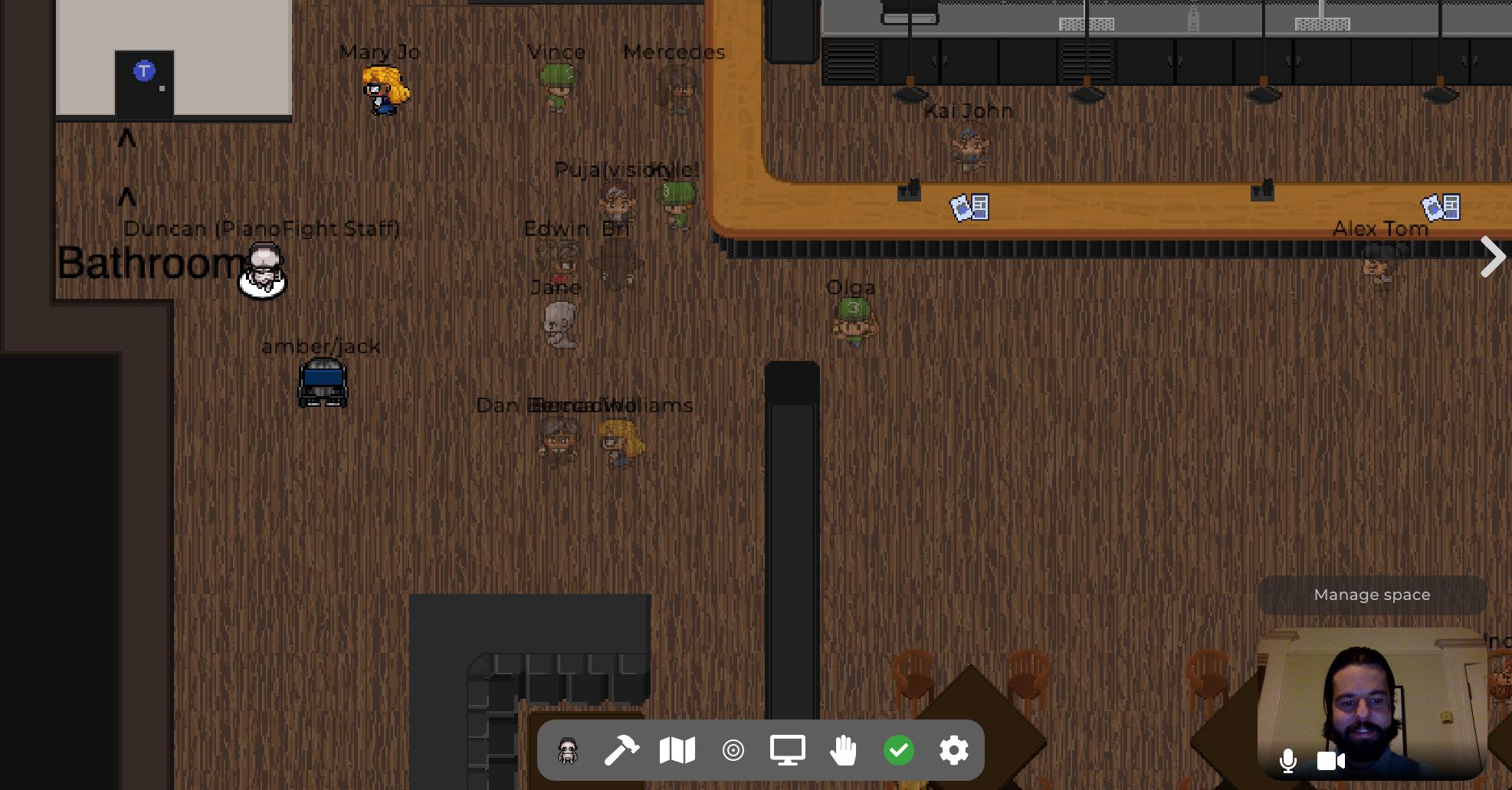 virtual venues, games