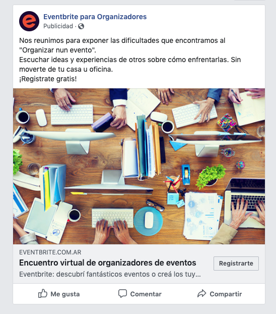 facebook para eventos