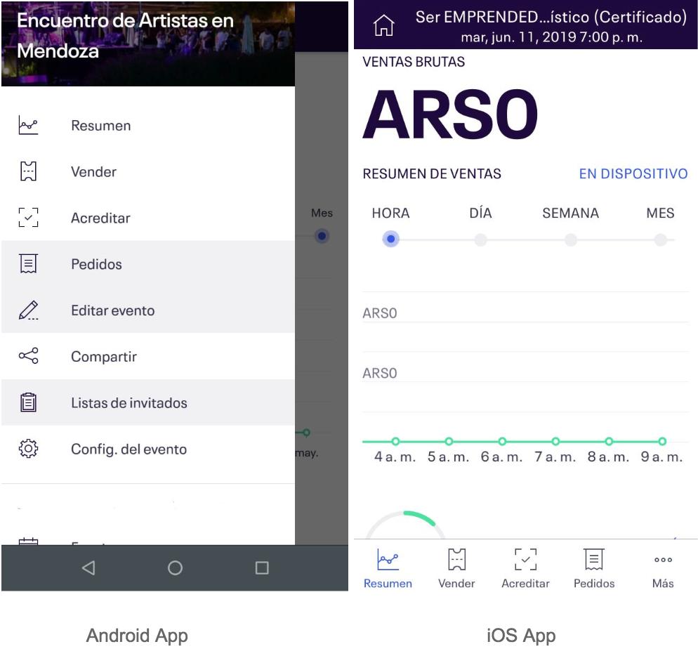 app para gestionar eventos