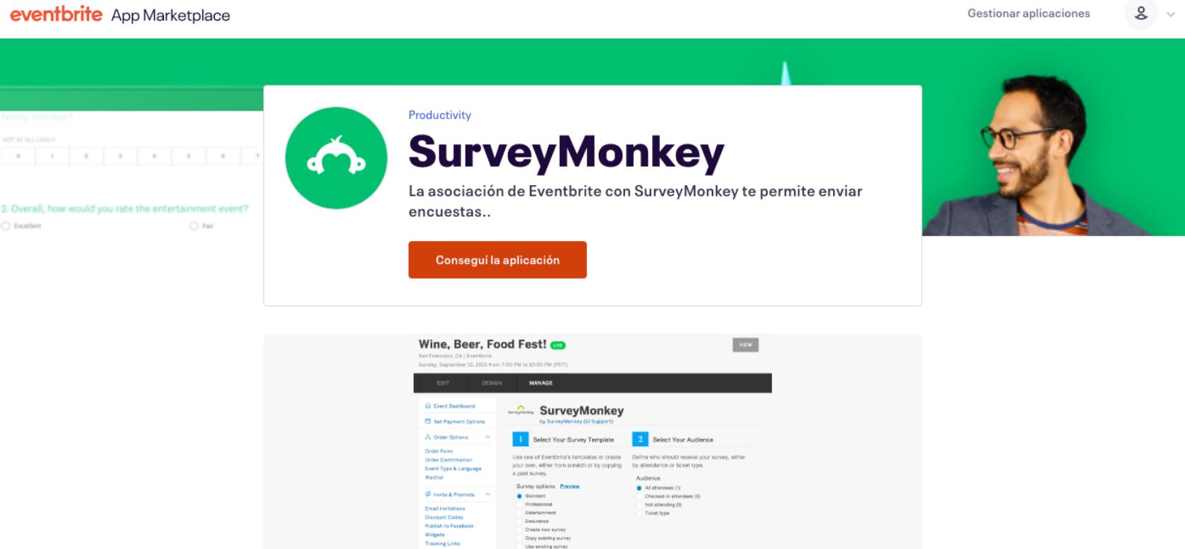 integración con survey monkey