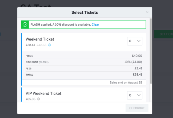 Using Discount Codes to Increase Demand and Ticket Sales 4