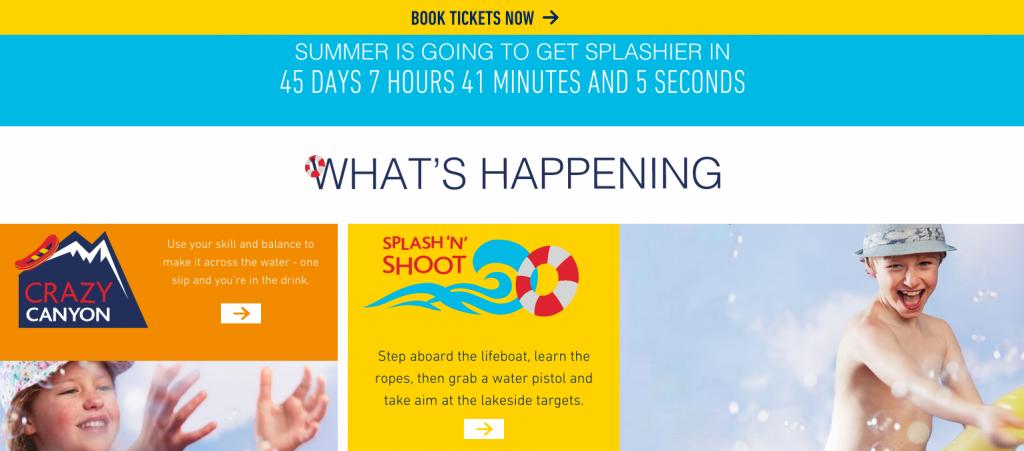 Splashfest 2 event websites
