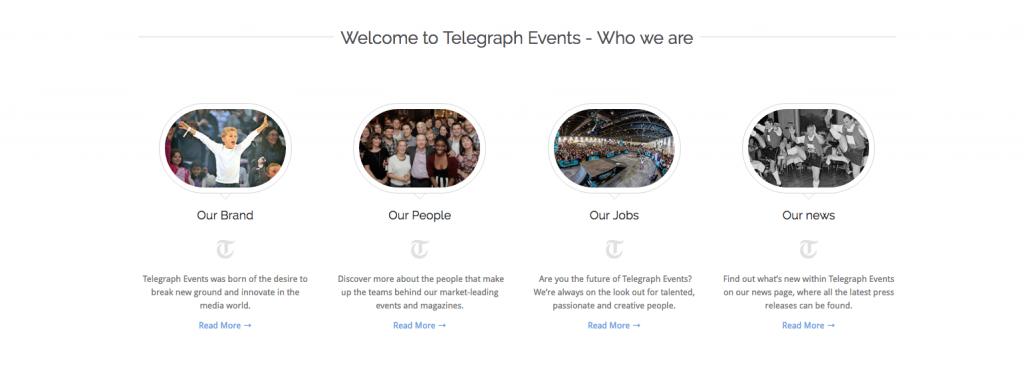 Telegraph events 2 event websites