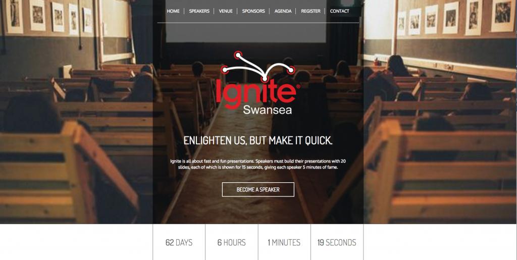 ignite swansea 1 event websites