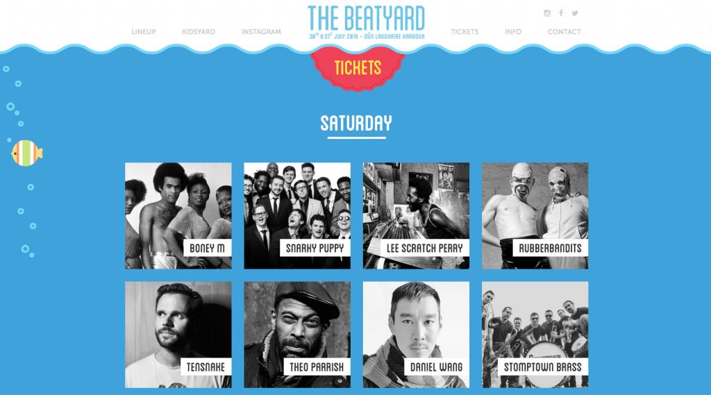 Beat Yard event websites