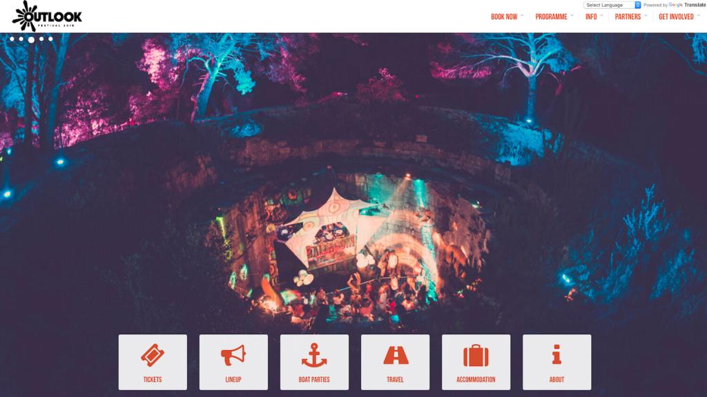 Outlook Festival event website