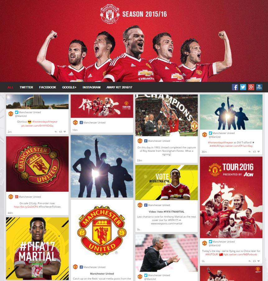 The Trends that are Redefining the Game Day Experience Manchester United Social Media Dashboard