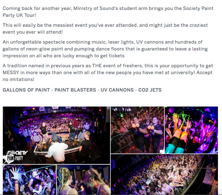 society paint party