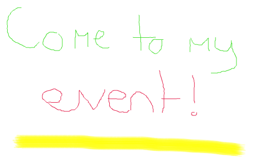 event invitation from paint
